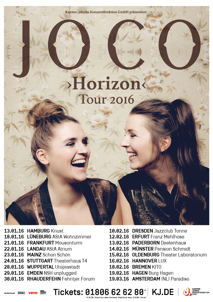 these are our support-acts on tour! | joco, Wohnzimmer